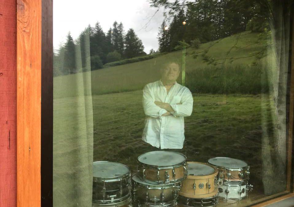 Drummer Mike Snyder at Big Red Studio